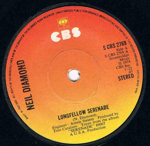 Bild Neil Diamond - Longfellow Serenade (7) Schallplatten Ankauf