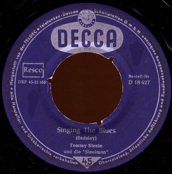 Bild Tommy Steele Und Die Steelmen* - Singing The Blues (7, Single) Schallplatten Ankauf