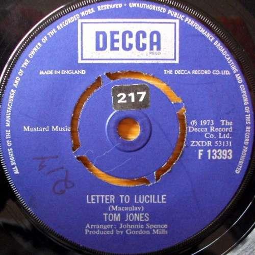 Bild Tom Jones - Letter To Lucille (7, Single) Schallplatten Ankauf