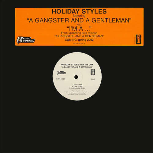 Cover Holiday Styles - A Gangster And A Gentleman / I'm A... (12, Promo) Schallplatten Ankauf