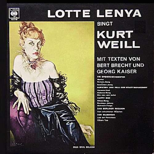 Bild Lotte Lenya - Lotte Lenya Singt Kurt Weill Mit Texten Von Bert Brecht Und Georg Kaiser (LP, Album) Schallplatten Ankauf