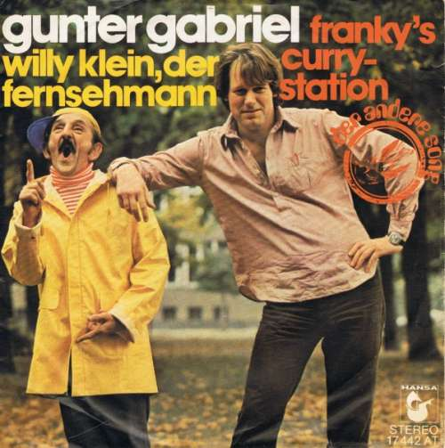 Cover zu Gunter Gabriel - Willy Klein, Der Fernsehmann (7, Single) Schallplatten Ankauf