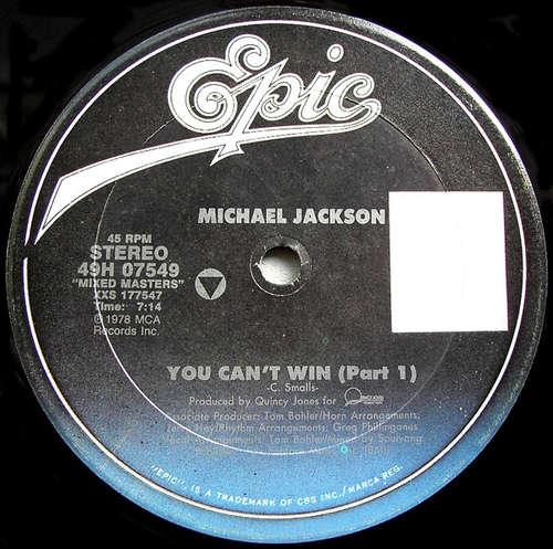 Cover Michael Jackson - You Can't Win (Part 1) / Billie Jean (12) Schallplatten Ankauf