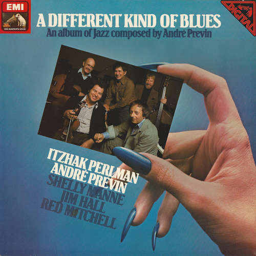 Cover zu Itzhak Perlman, André Previn, Shelly Manne, Jim Hall, Red Mitchell - A Different Kind Of Blues (LP) Schallplatten Ankauf