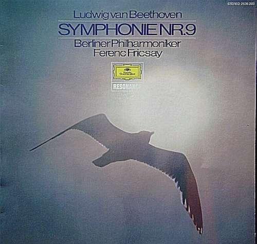 Cover zu Ludwig van Beethoven - Berliner Philharmoniker, Ferenc Fricsay - Symphonie Nr.9 (LP, RE) Schallplatten Ankauf