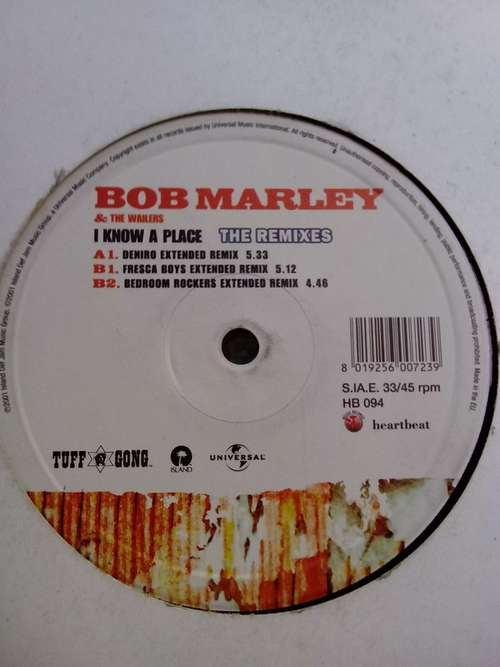 Cover Bob Marley & The Wailers - I Know A Place (The Remixes) (12) Schallplatten Ankauf