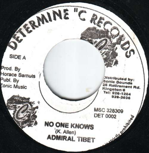 Bild Admiral Tibet - No One Knows (7) Schallplatten Ankauf