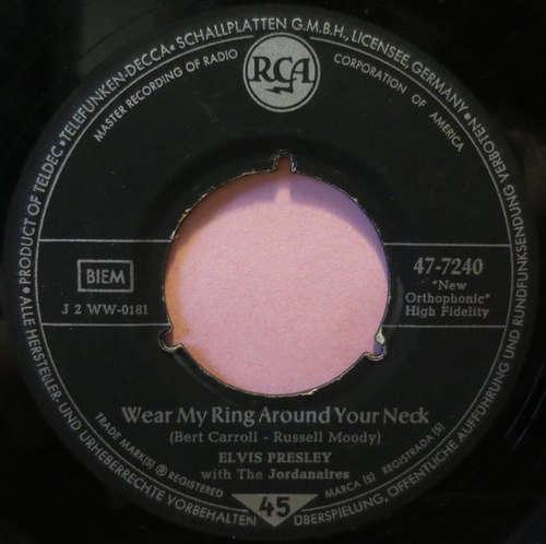 Cover Elvis Presley With The Jordanaires - Wear My Ring Around Your Neck (7, Single) Schallplatten Ankauf