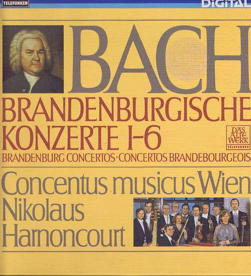 Bild Bach*, Concentus Musicus Wien, Nikolaus Harnoncourt - Brandenburgische Konzerte Nr. 1-6 (2xLP + Box) Schallplatten Ankauf