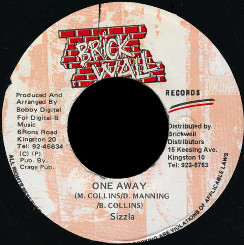 Cover zu Sizzla - One Away (7) Schallplatten Ankauf