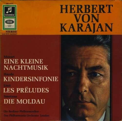 Bild Herbert von Karajan — Mozart* / Haydn* / Liszt* / Smetana* — Die Berliner Philharmoniker* · Das Philharmonia Orchester London* - Eine Kleine Nachtmusik / Kindersinfonie / Les Préludes / Die Moldau (LP) Schallplatten Ankauf