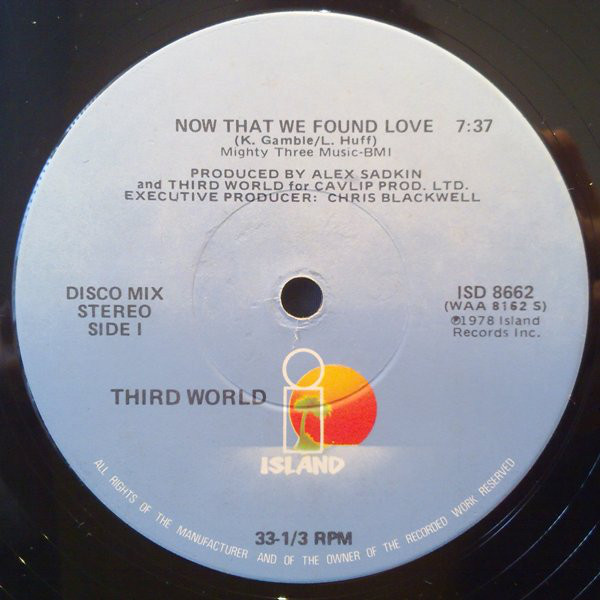 Cover Third World - Now That We Found Love (12) Schallplatten Ankauf