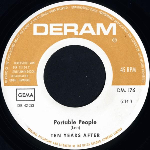Cover zu Ten Years After - Portable People / Sounds (7, Single) Schallplatten Ankauf