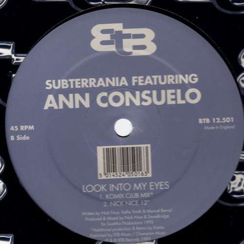 Bild Subterrania Featuring Ann Consuelo - Look Into My Eyes (12) Schallplatten Ankauf