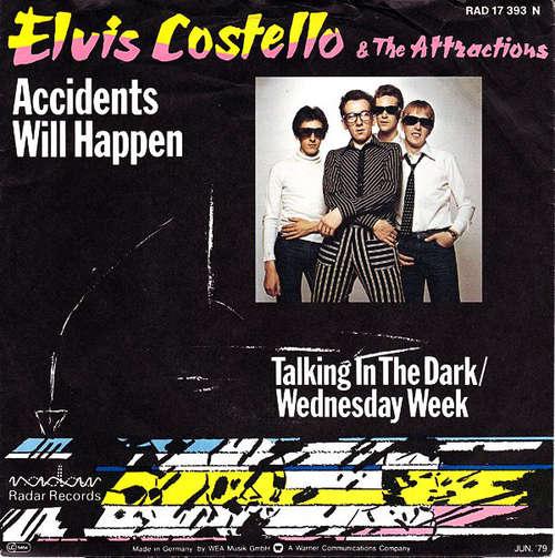 Cover Elvis Costello & The Attractions - Accidents Will Happen (7, Single) Schallplatten Ankauf