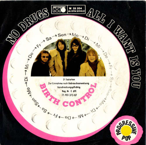 Cover Birth Control - No Drugs / All I Want Is You (7, Single) Schallplatten Ankauf