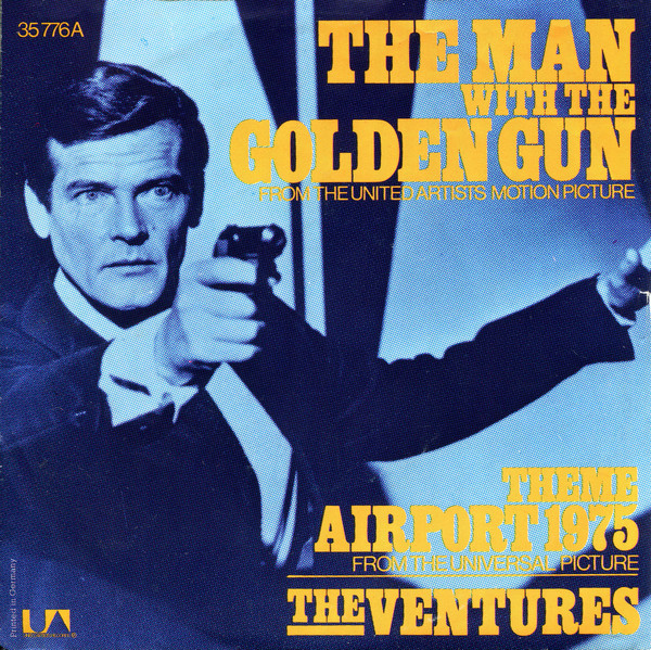 Cover The Ventures - The Man With The Golden Gun / Theme Airport 1975 (7, Single) Schallplatten Ankauf