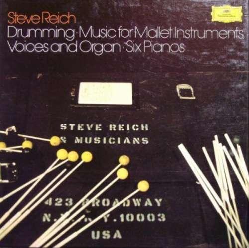 Cover Steve Reich - Drumming / Music For Mallet Instruments, Voices And Organ / Six Pianos (3xLP + Box) Schallplatten Ankauf