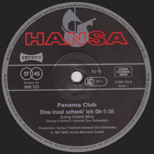 Bild Panama Club - Eine Insel Schenk' Ich Dir (12, Maxi) Schallplatten Ankauf