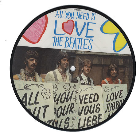 Cover The Beatles - All You Need Is Love (7, Single, Ltd, Pic, RE) Schallplatten Ankauf