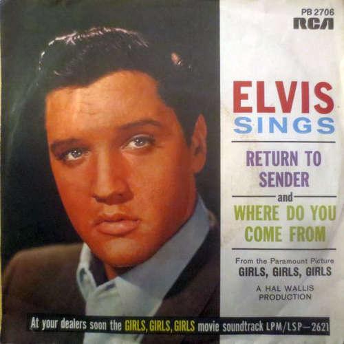 Cover Elvis Presley With The Jordanaires - Return To Sender (7, RE) Schallplatten Ankauf