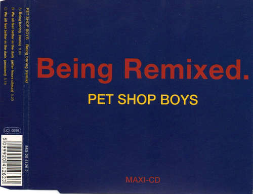 Cover Pet Shop Boys - Being Remixed (CD, Maxi) Schallplatten Ankauf