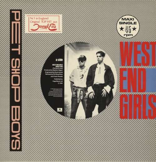 Cover Pet Shop Boys - West End Girls (12, Maxi) Schallplatten Ankauf