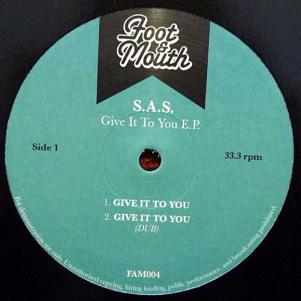 Cover S.A.S.* - Give It To You EP (12, EP, Promo) Schallplatten Ankauf