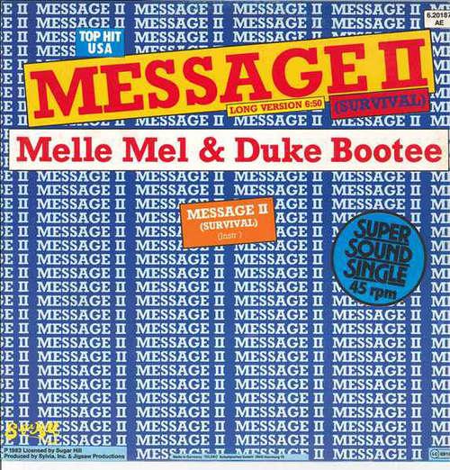 Cover Melle Mel & Duke Bootee - Message II (Survival) (12, Single) Schallplatten Ankauf