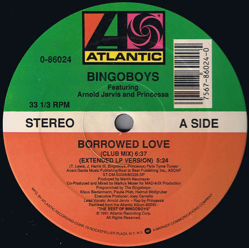 Cover Bingoboys Featuring Arnold Jarvis And Princessa (2) - Borrowed Love (12) Schallplatten Ankauf