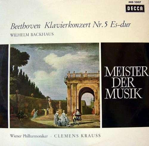 Bild Beethoven* - Wilhelm Backhaus - Wiener Philharmoniker - Clemens Krauss - Klavierkonzert Nr. 5 Es-dur (LP, Album, Mono) Schallplatten Ankauf