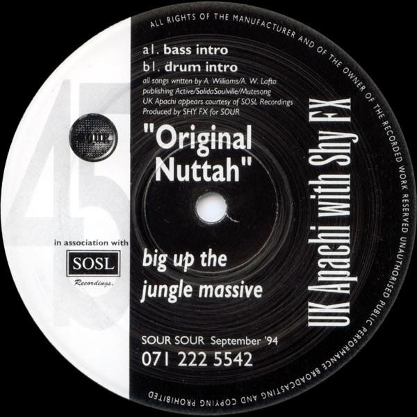 Cover UK Apachi With Shy FX - Original Nuttah (12) Schallplatten Ankauf