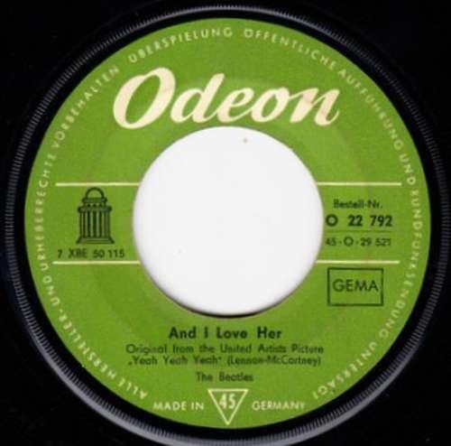 Cover zu The Beatles - And I Love Her (7, Single) Schallplatten Ankauf