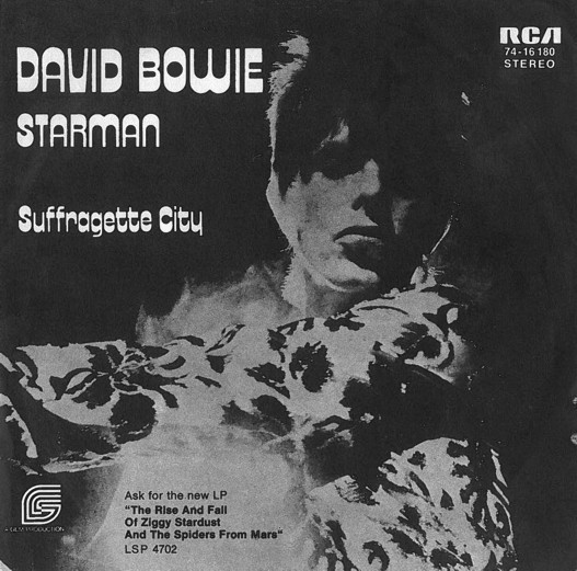 Cover David Bowie - Starman (7, Single) Schallplatten Ankauf