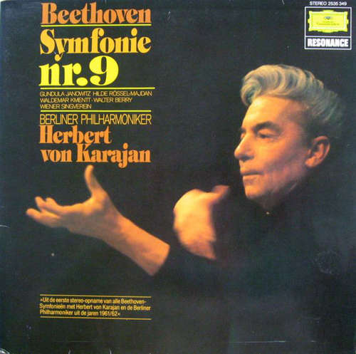 Bild Beethoven* – Berliner Philharmoniker, Gundula Janowitz, Hilde Rössel-Majdan, Waldemar Kmentt, Walter Berry, Wiener Singverein - Symphonie Nr.9 (LP, Album, RP) Schallplatten Ankauf