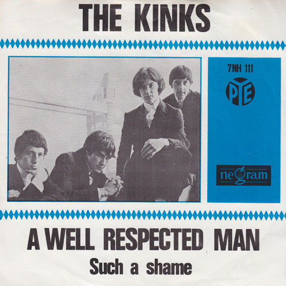 Cover The Kinks - A Well Respected Man (7, Single, Blu) Schallplatten Ankauf