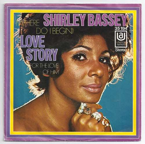 Cover Shirley Bassey - (Where Do I Begin) Love Story  (7, Single) Schallplatten Ankauf