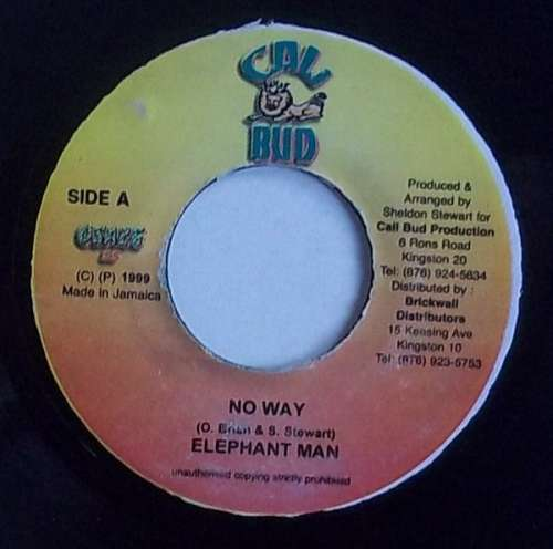Bild Elephant Man - No Way (7) Schallplatten Ankauf