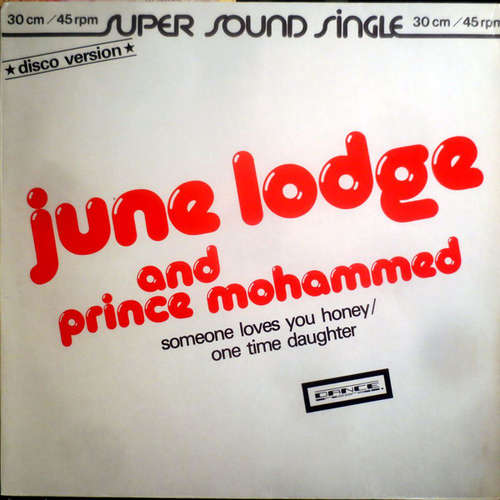 Cover zu June Lodge And Prince Mohammed - Someone Loves You Honey/One Time Daughter (12, Single) Schallplatten Ankauf