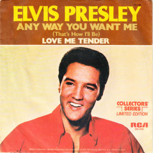 Cover Elvis Presley - Any Way You Want Me (That's How I'll Be) / Love Me Tender (7, Mono, Ltd, RE) Schallplatten Ankauf