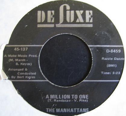 Bild The Manhattans* - A Million To One / Cry If You Wanna Cry (7, Single) Schallplatten Ankauf