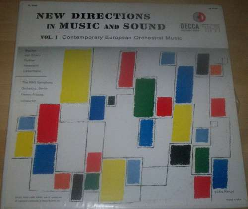 Cover New Directions In Music And Sound Vol. 1 - Contemporary European Orchestral Music Schallplatten Ankauf