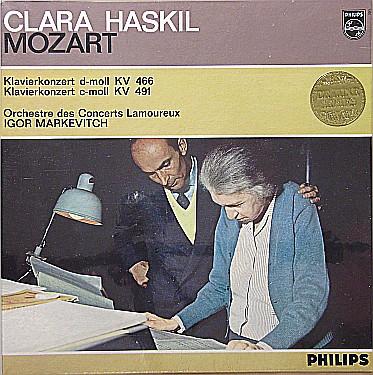 Cover Clara Haskil, Mozart*, Orchestre Des Concerts Lamoureux, Igor Markevitch - Klavierkonzert d-moll KV 466 / Klavierkonzert c-moll KV  491 (LP, Album, Mono) Schallplatten Ankauf