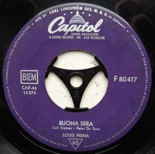 Bild Louis Prima - Buona Sera / Oh Marie (7, Single, Mono) Schallplatten Ankauf