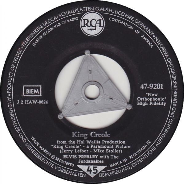 Cover Elvis Presley With The Jordanaires - King Creole (7, Single) Schallplatten Ankauf