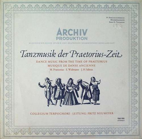 Bild Collegium Terpsichore · Leiting: Fritz Neumeyer – M. Praetorius* · E. Widmann* · J. H. Schein* - Tanzmusik Der Praetorius-Zeit (LP, RE) Schallplatten Ankauf