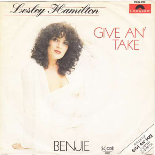 Cover zu Lesley Hamilton - Give An' Take (7, Single) Schallplatten Ankauf