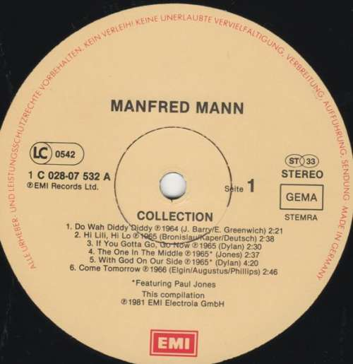 Bild Manfred Mann - Collection (LP, Comp) Schallplatten Ankauf