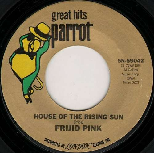 Bild Frijid Pink - House Of The Rising Sun / Heartbreak Hotel (7, Single, Styrene) Schallplatten Ankauf