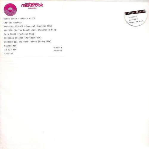 Cover Duran Duran - Master Mixes (2x12, S/Sided, Ltd, SRC) Schallplatten Ankauf